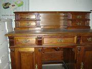 Schreibtisch mit Aufsatz antik Gründerzeit