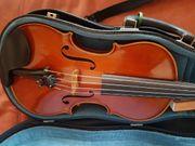 Ganze Violine mit Zubehör