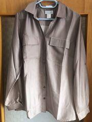 Schicke Bluse in Satin-Optik - beige