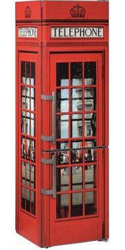 Kühl-Gefrierkombi LIMITED EDITION Englische Telefonzelle