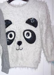 Sweatshirt Pulli Pullover Kuschelpulli Panda