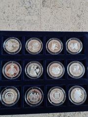 Feinsilber Medaillen 29 stück