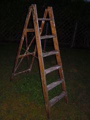 6 Stufen Holzleiter 1 3m