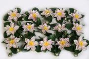 12 Seerosen plastik Lotus künstl