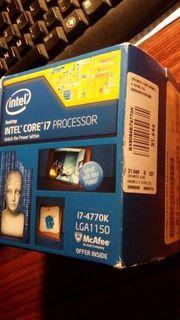 CPU Intel i7 4770k