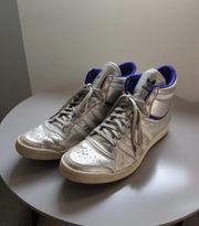 Adidas High Top Sneaker silber