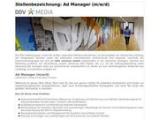 Ad Manager m w d