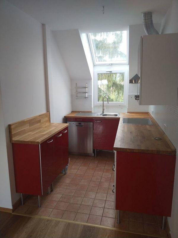 Rote Hochglanzlack-Küche 399, - VHB inkl. Geräte zu verkaufen