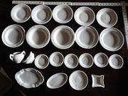 Puppenstuben Konvolut weißes Keramikgeschirr 22tlg