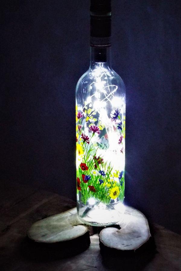 Flaschenlampe Weinlampe