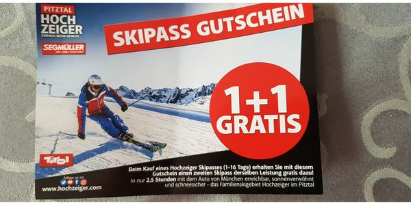 Skipass Gutschein für das Skigebiet