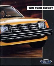 1983 FORD Escort Sales Brochure -