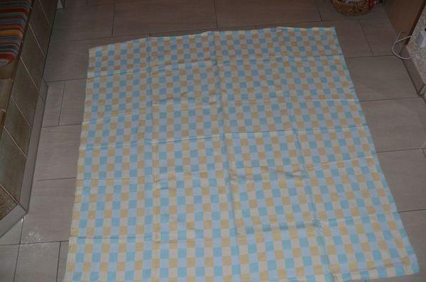 10 karrierte Tischdecken gelb weiß