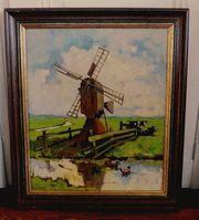 tolles altes Gemälde Ölgemälde sig