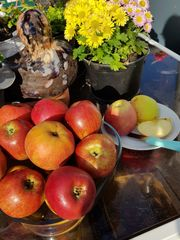 Äpfel Abverkauf