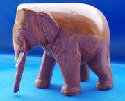 Holzelefant braun L 12 cm