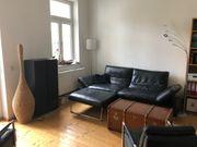 Koinor XXL-Leder-Sofa mit Fußteil - Arm-