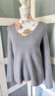 Grauer Pullover Gr 38 M