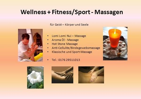 Wellness- Sport Fitness-Massagen