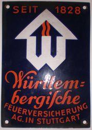 Emailleschild Württembergische Feuerversicherung AG