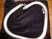 Massive Silber-Halskette in Schlangendesign 360