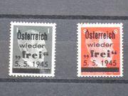 Briefmarken Österreich 1945 Losenstein Lokalausgabe