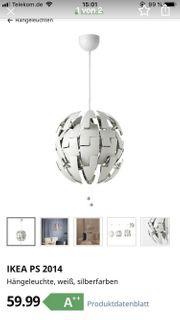 Ikea Lampe weiß Silber