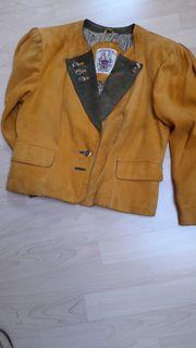Damen Leder-Trachtenjäckchen Gr 40 Hirschwildleder