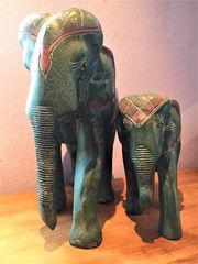 Elefant Skulpturen Holz Elefanten Elefantenkuh