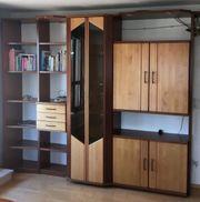 Wohnzimmer- Schrankwand Vollholz