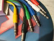 6 x Audio Klinkenkabel Stereo-Verbindungskabel