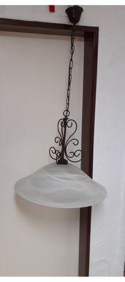 Esszimmer- Wohnzimmerlampe mit Glasschirm
