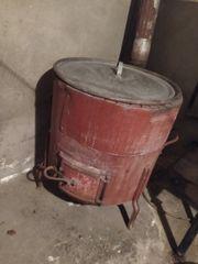 Alter Waschkessel mit Deckel