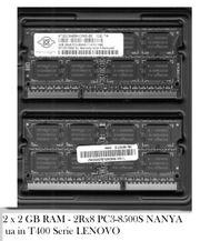 2x2GB RAM - 2Rx8 PC3-8500S NANYA
