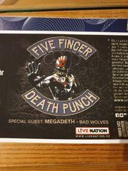 Five Finger Death Punch Konzertkarte