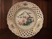 Meissen Porzellan Durchbruchteller Japanisches Dekor