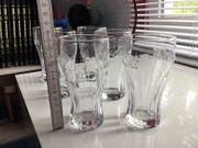 6 Cola-Gläser 3 D Struktur