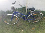 Fahrrad 28 Trekkingrad blau mit