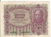 20 Kronen Banknote Österreichisch Ungarische