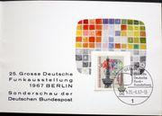 Briefmarken Berlin 1967 Klappkarte Funkausstellung