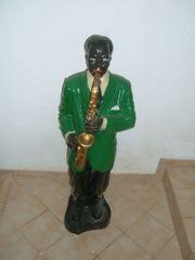 Deko Standfigur Musiker mit Saxophon