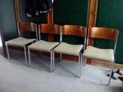 8 Stühle Vintage Stahl Holz