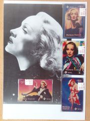 Vier Telefonkarten Marlene Dietrich USA
