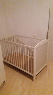 Kinderbett Babybett in Weiß 70x140