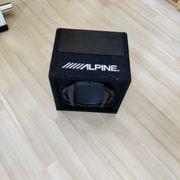 Alpine SWE-815 Auto aktiv Subwoofer