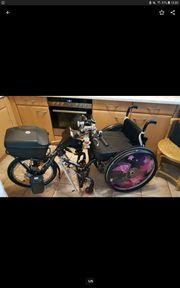 Rollstuhl und handbike Sticker