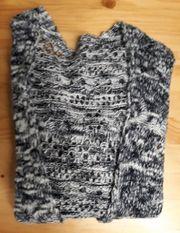 Strickjacke grau schwarz Cardigan