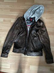 Braune Leder Jacke