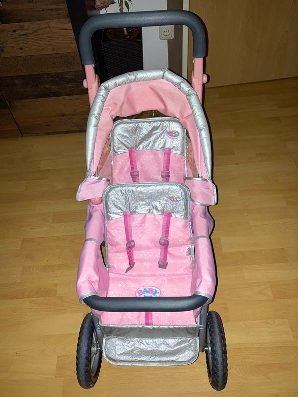 Sehr seltener Geschwisterpuppenwagen für Baby