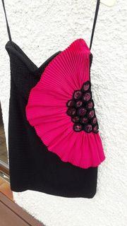 Cocktailkleid-Abendkleid kurz Gr 38 schwarz-pink